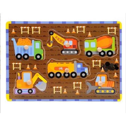 Houten Knoppuzzel Werkvoertuigen