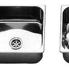 Barka wasbakken rechthoekig / RVS