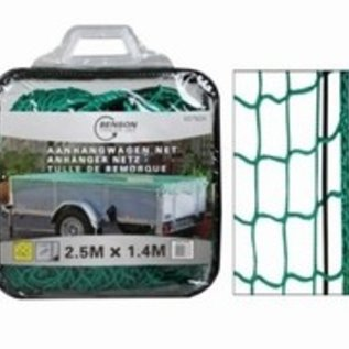 Aanhangwagennet 2,5 x 1,4mtr. in tas