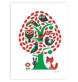 Omm design poster boom met dieren