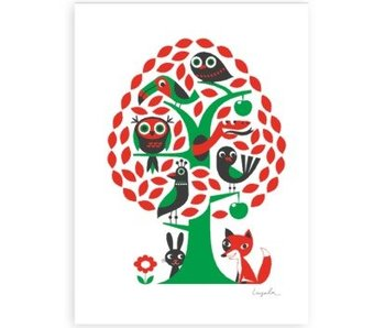 poster boom met dieren