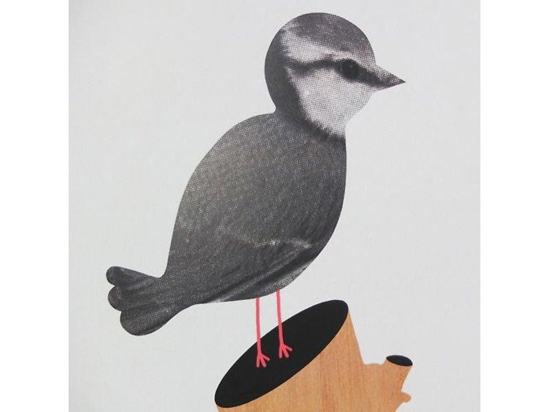 Audrey Jeanne poster vogel op tak