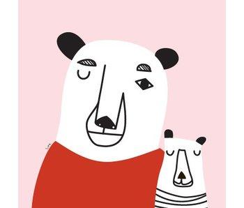vierkante poster meneer ijsbeer