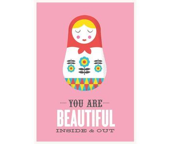poster inside out roze XL