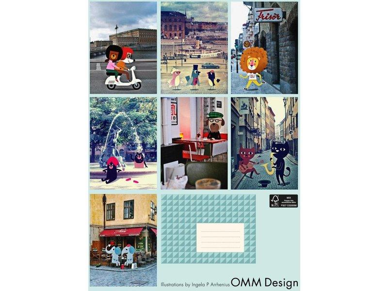 Omm design set kaarten friends in Stockholm