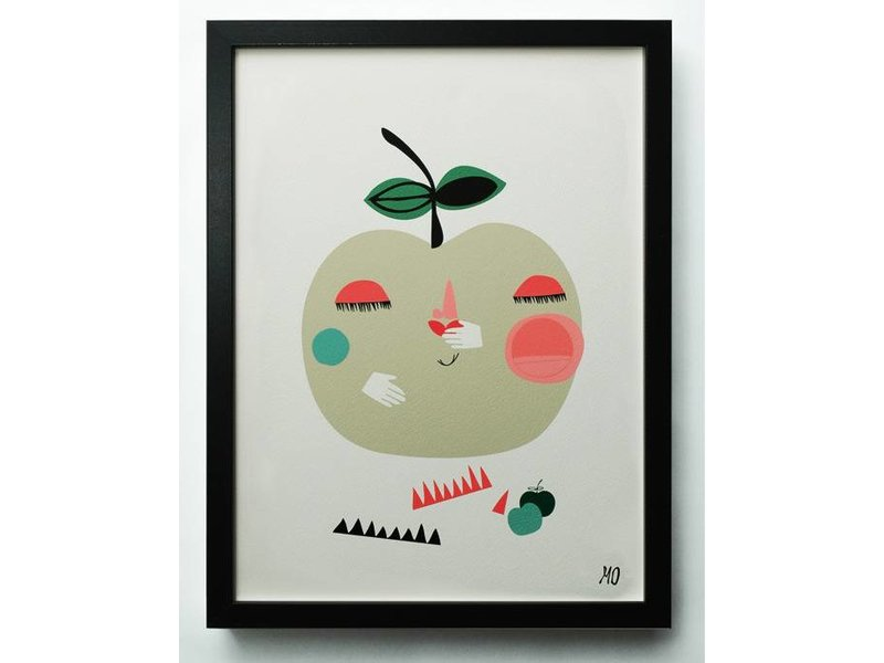 Going Danish A3 poster apple