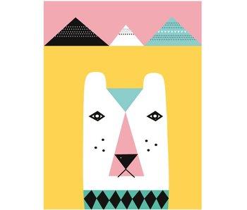 XL poster ijsbeer roze