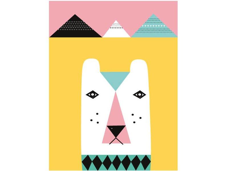 Isa Form XL poster ijsbeer roze