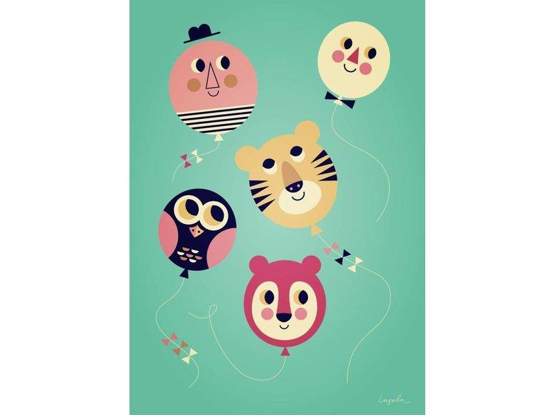 Omm design poster ballongezichten