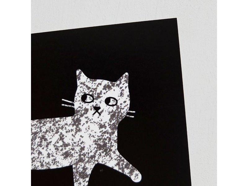 Audrey Jeanne kaart gemarmerde kat