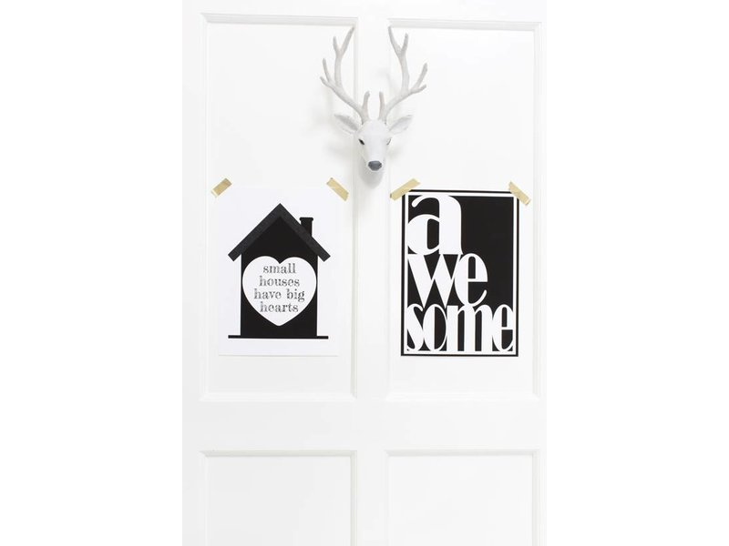 Sparkling paper poster small houses