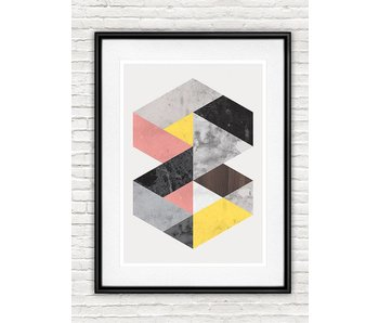 poster geometric art nr.6