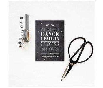 postkaart when you dance