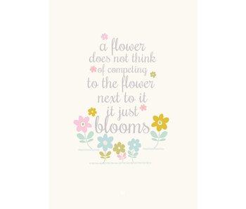 A4 poster a flower