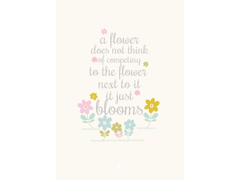 Petite Louise A4 Petite Louise poster a flower