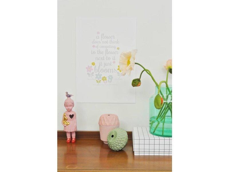 Petite Louise kaart a flower