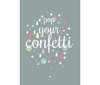 kaart pop up your confetti