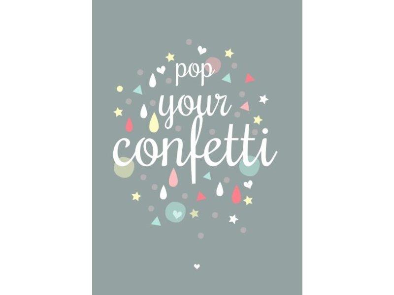 Petite Louise kaart pop up your confetti