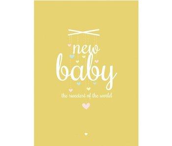 kaart New baby geel