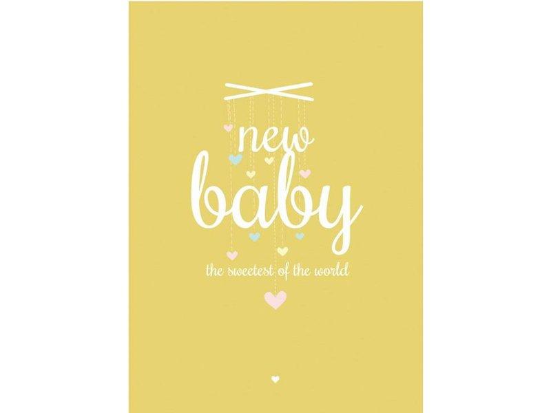 Petite Louise kaart New baby geel