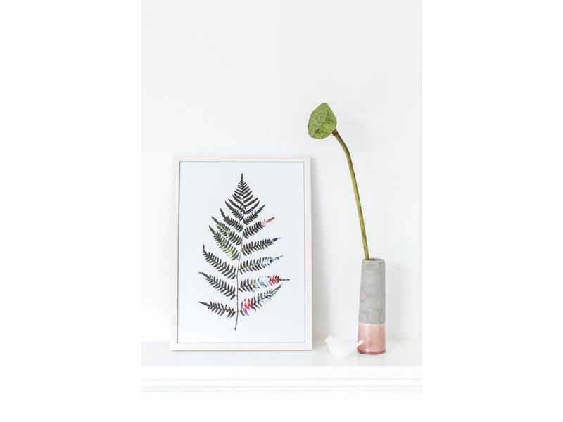 Sparkling paper poster fern