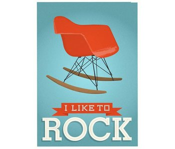 poster like to rock blauw