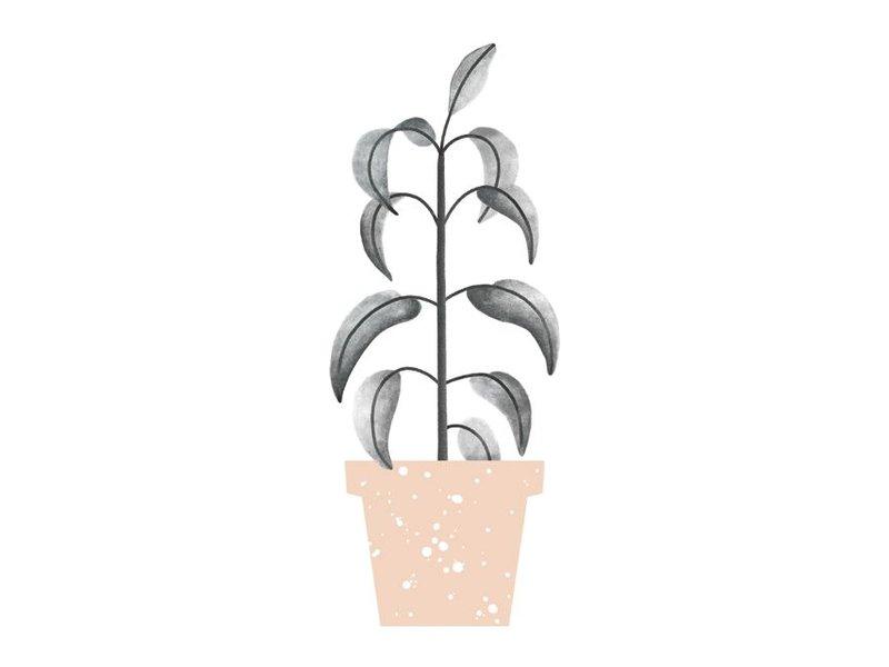 Audrey Jeanne kaart groene plant