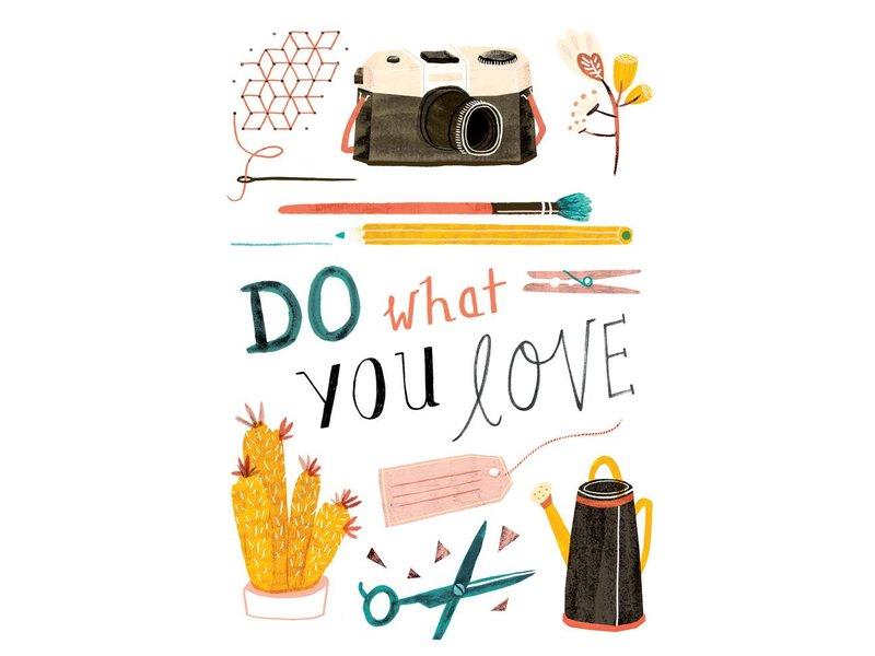 Teken-ing kaart do what you love
