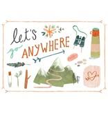 Teken-ing kaart lets go anywhere