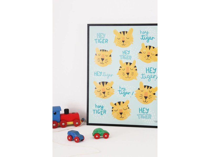 Michelle Carlslund A3 poster Hey Tigers