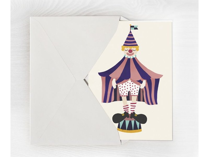Michelle Carlslund A5 kaart mini poster Clown