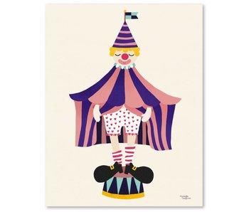 A5 kaart - mini poster Clown