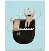 Michelle Carlslund A5 kaart mini poster Play