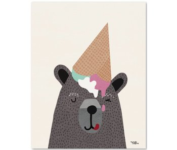 A5 kaart - mini poster Ice Cream