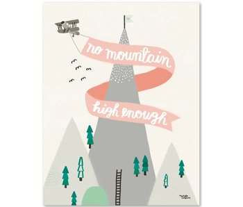 A5 kaart - mini poster Mountain