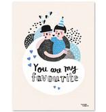 Michelle Carlslund A5 kaart - mini poster Favourite