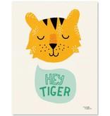Michelle Carlslund A4 poster Hey Tiger
