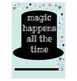 Sparkling paper kaart magic happens colour