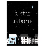 Sparkling paper kaart a star is born blue