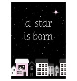 Sparkling paper kaart a star is born pink