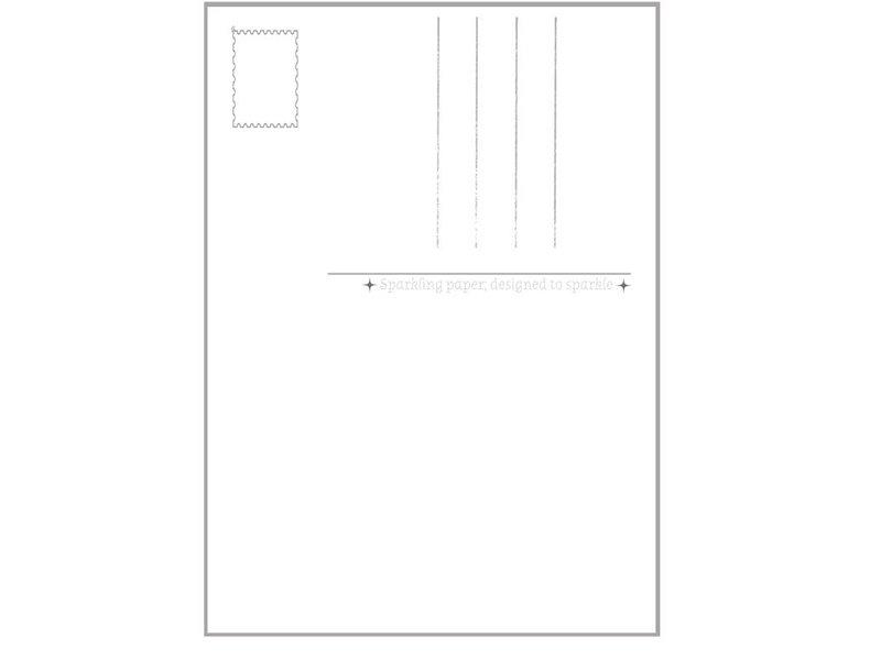 Sparkling paper kaart fern