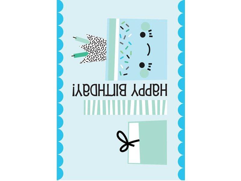 Sparkling paper kaart happy birthday gift