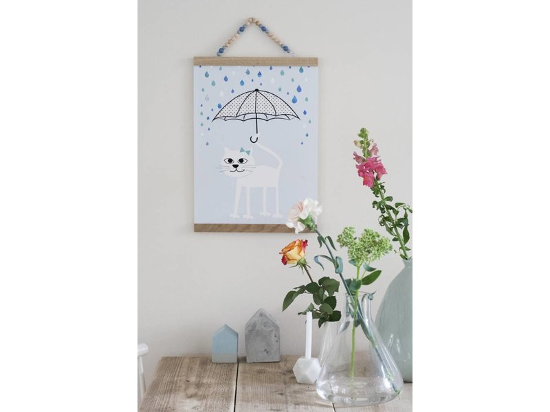 Sparkling paper poster rainy days