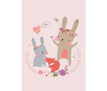 kaart bunny & friends