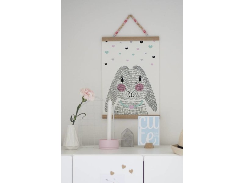 Sparkling paper A2 roze posterdisplay