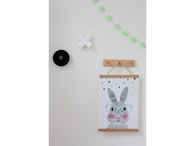 Sparkling paper A2 groen-witte posterdisplay