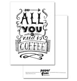 Paper fuel kaart all you need is coffee
