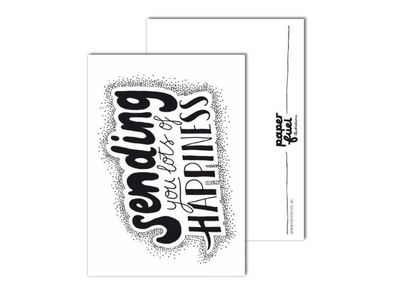 Paper fuel kaart sending you lots of happiness