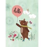 Petite Louise A4 poster hello bear