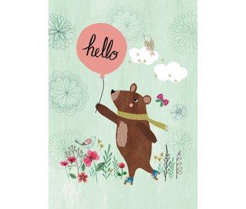 A4 poster hello bear